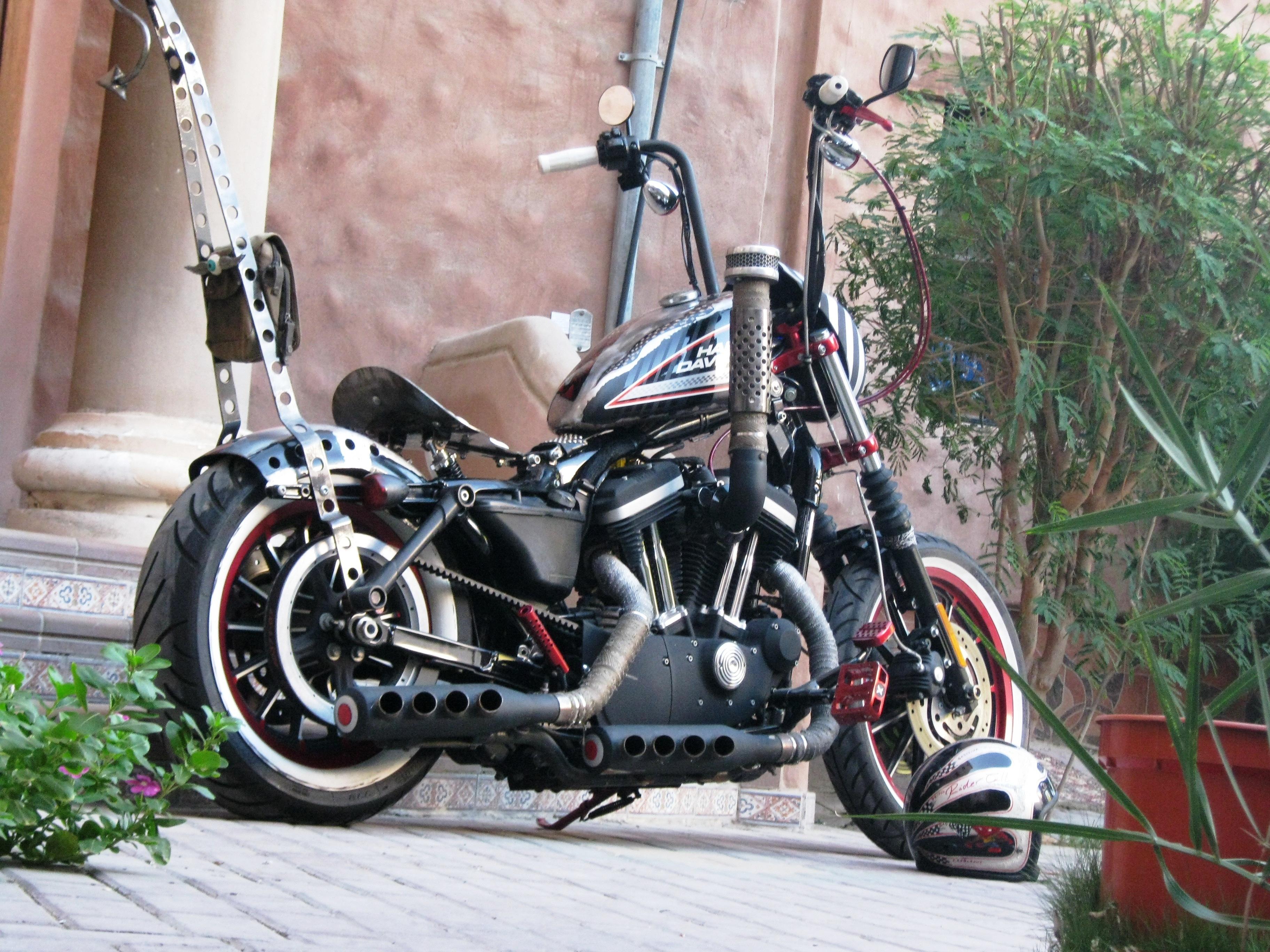 The Firestarter Custom Harley 883 Sportster From Saudi